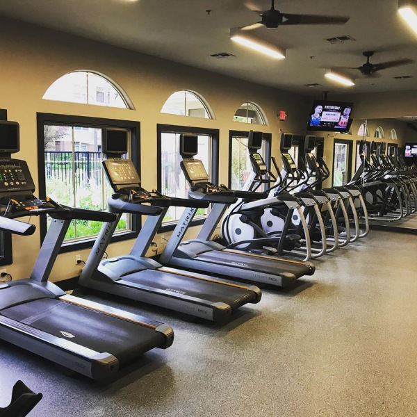 Random cold weather? Get your core temperature up with our 24 Hour Fitness studio! Just another one of our luxurious amenities...steps away from your apartment!