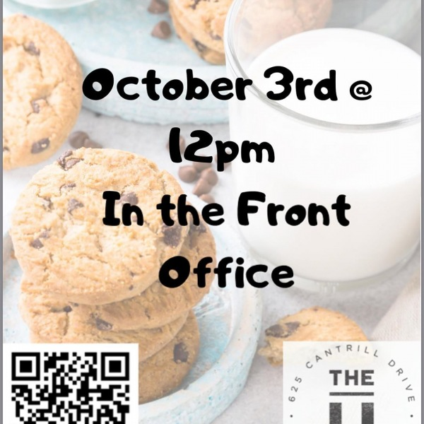 MILK & COOKIES. Tomorrow October 3rd at Noon we will have Cookies and Milk down at the office! Come Grab some Scrumptious cookies!  #liveherelivewell #theudavis #ucd #davisca #theu #instagram #uhouzz #instagram #snapchat