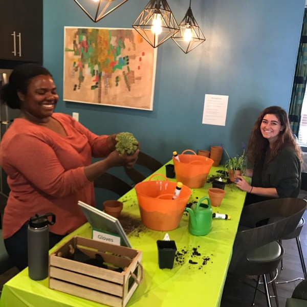Flashback Friday to our plant Potting event! To those who participated Dm us some photos of how your plants are doing now! We Miss U all!  #theu #theudavis #davis #daviscalifornia #davisca #ucdavis #ucd #davistown #davis #residentevents #events #davis